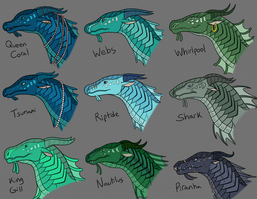 Seawing character studies